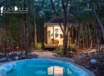 casa modular de noche